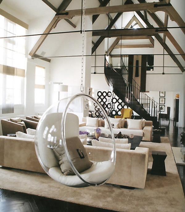 Hanging Bubble Chair di Eero Aarnio