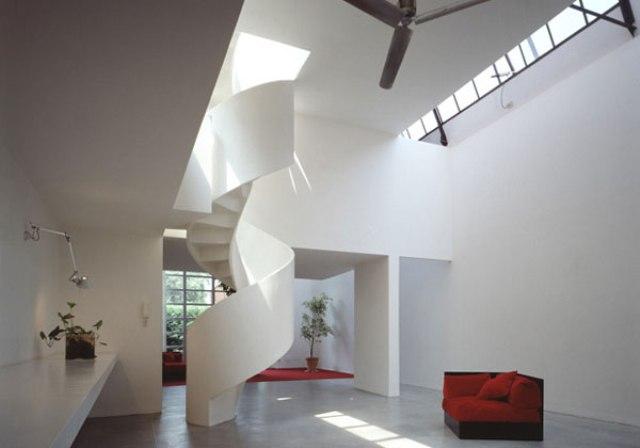 Scale a chiocciola for Arredamento minimalista design