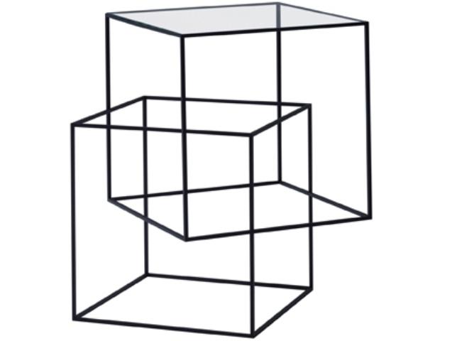 thin black table - cappellini