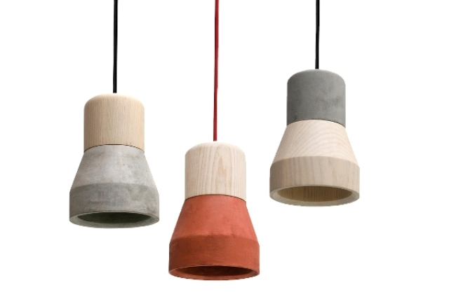 cement wood lamp - specimen