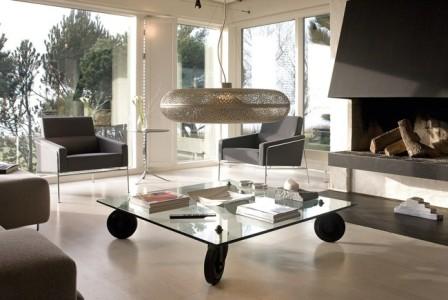Tavoli di vetro - Tavolo con ruote ...