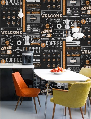 Wallpaper per la cucina design lover for Tappezzeria cucina