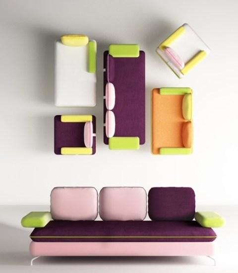 Salone del mobile 2014 nuovi divani by matrix berto e gan - Divani colorati ...