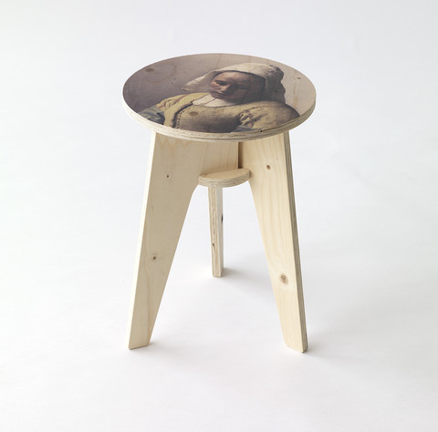Plywood Print Stool - NLXL