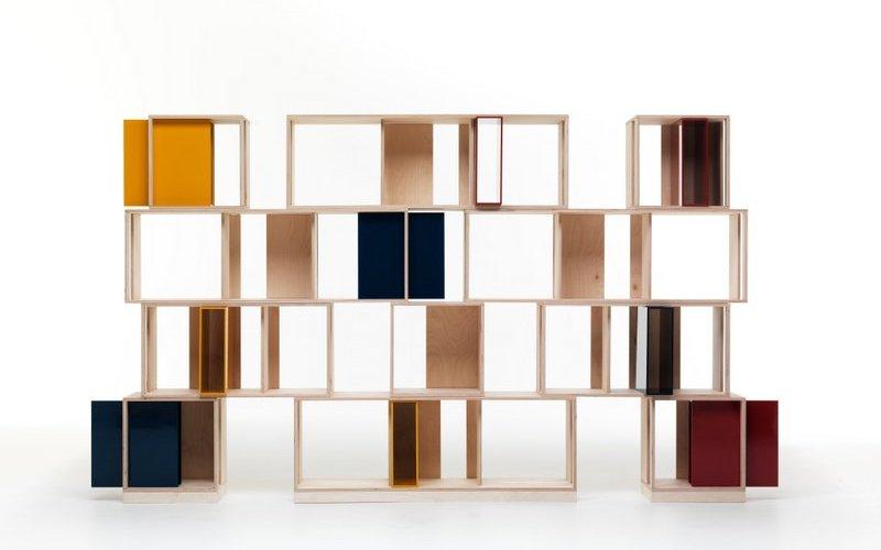 Librerie con moduli colorati for Moduli libreria