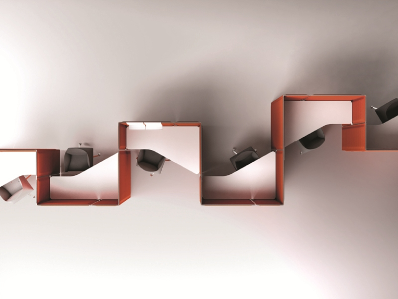 Nuove sedute vela di tecno - Pannelli divisori design ...