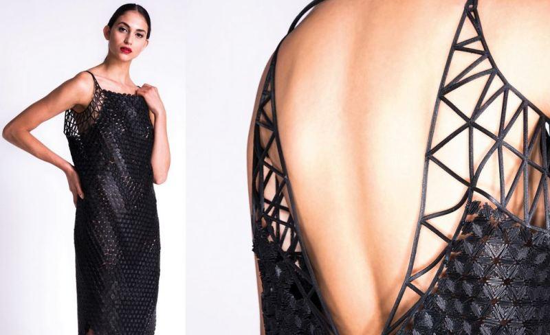 3D printing black dress