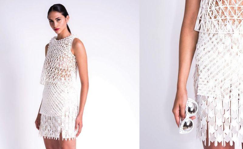 3D printing white dress