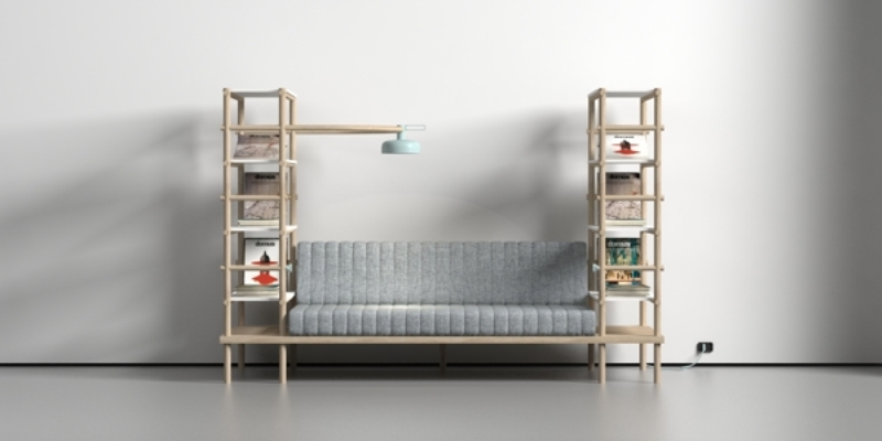 multifunctional sofa by Burak Kocak