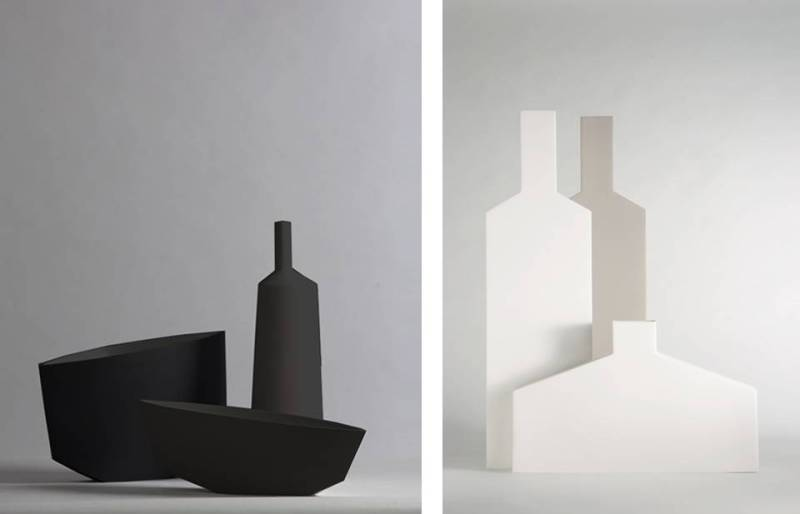 vasi Frassino e Geometrie by Kose