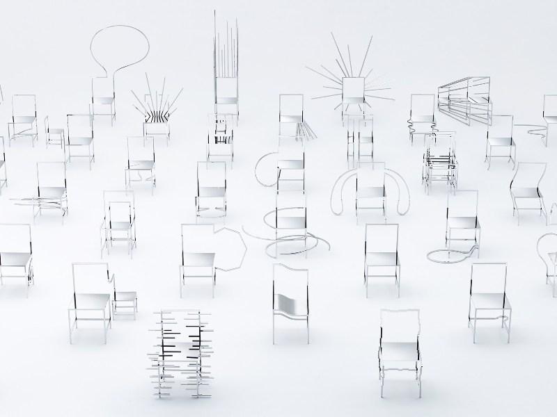 fuorisalone 2016 - 50 manga chairs by Nendo