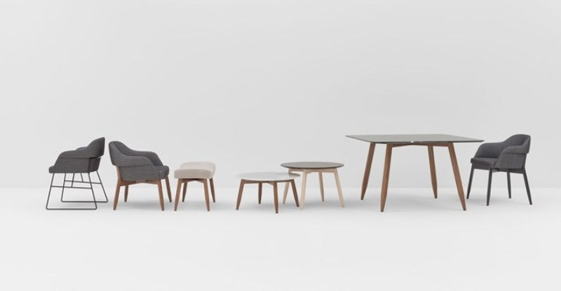Sedute e tavoli Spy di Billiani