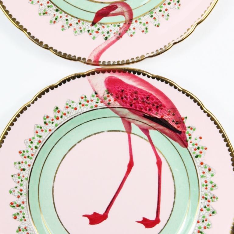 servizio di piatti flamingo