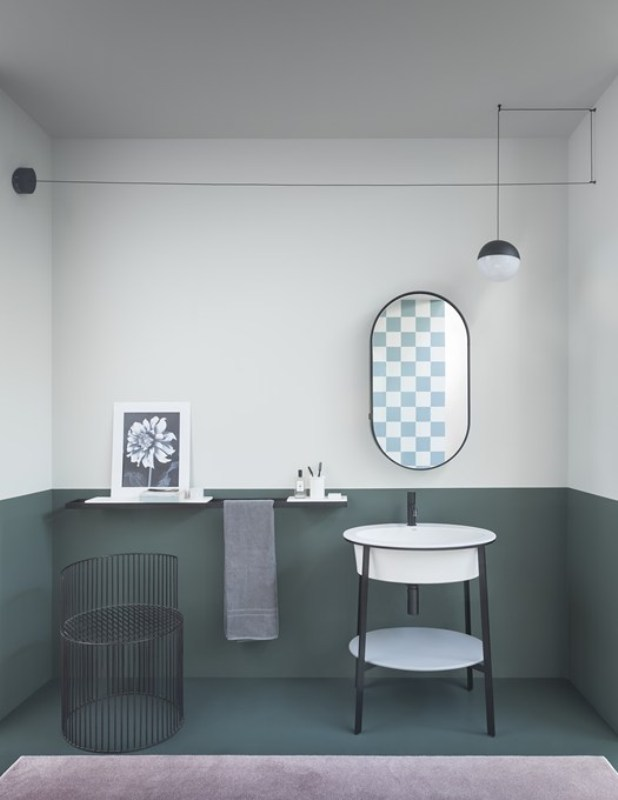 lavabo l'Ovale Ceramica Cielo