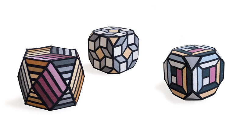 pouf Parquet collection GAN