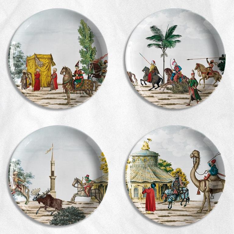 piatti Corteo Les Ottomans