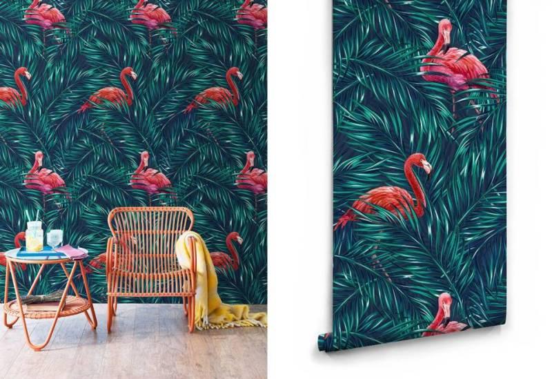 Tropical flamingos Milton and King