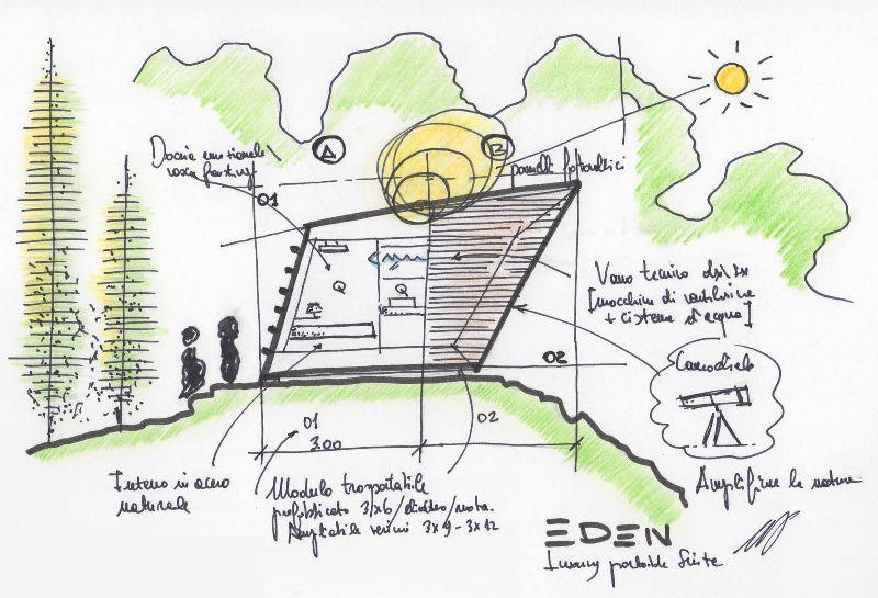 Eden luxury portable suite abitare la natura design lover for Suite prefabbricata