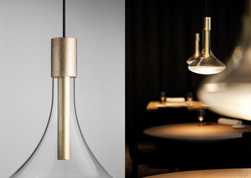 L\'ottone contamina le lampade di Davide Groppi - Design Lover