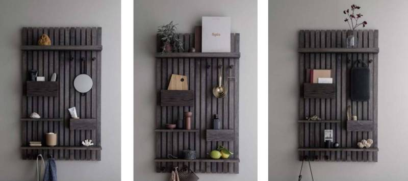 wooden multi shelf Ferm Living