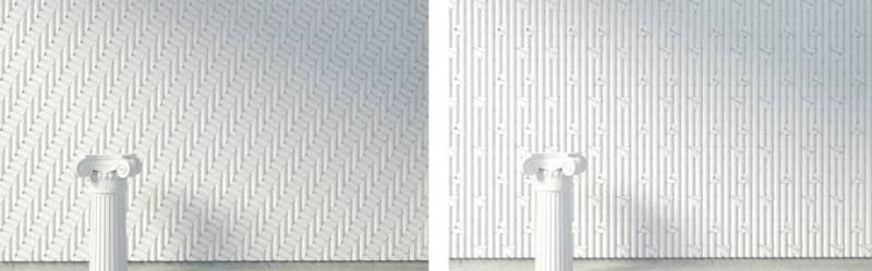 Rivestimenti 3D ispirati all'architettura classica