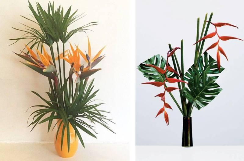 Sculture fatte con i fiori