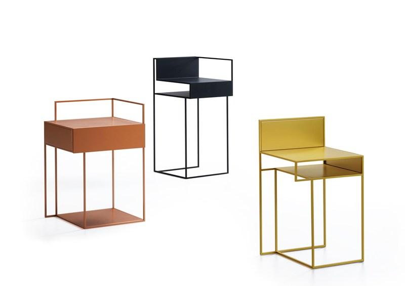 Tavolini in metallo verniciato
