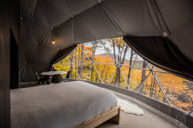 luxury eco resort domes charlevoix