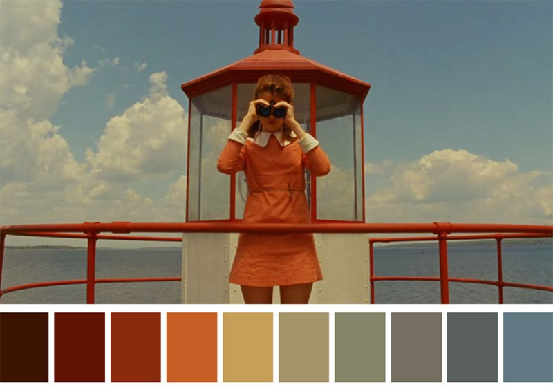 wes anderson colors