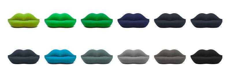 divano Bocca in 25 nuovi colori