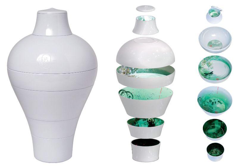 vaso scomponibile ming ibride