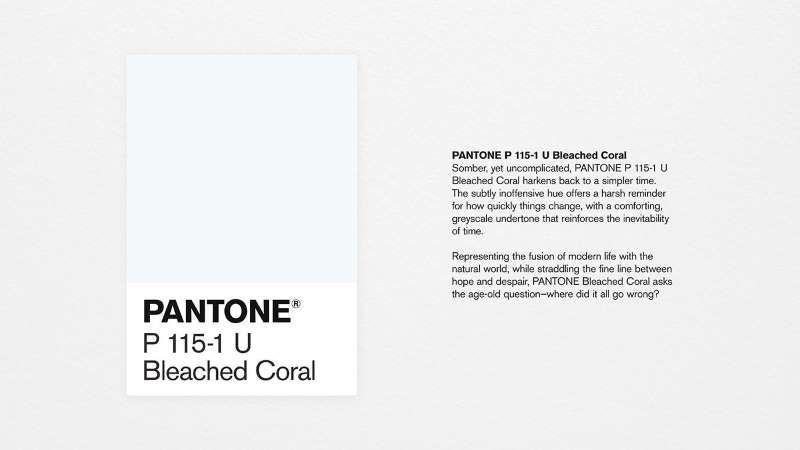 pantone bleached coral